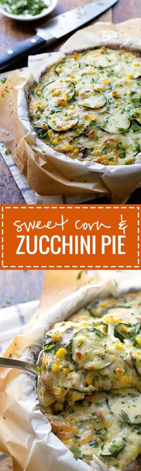 sweet corn and zucchini pie