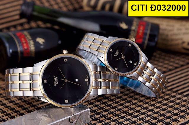 Đồng hồ cặp đôi Citizen Đ032000