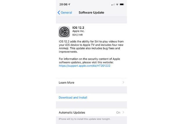 iOS 12.2 chính thức ra mắt và đã có thể tải về