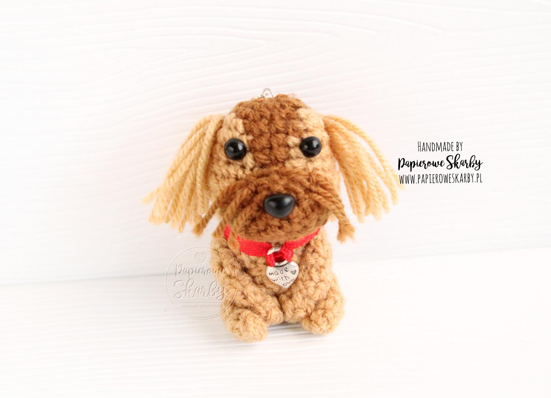 handmade rękodzieło brelok keychain keyring breloczek breloki pies piesek z psem z pieskiem rasy rasa pekińczyk shih tzu maltańczyk dog szydełko szydełkowy na szydełku crochet amigurumi with puppy maltese maltese