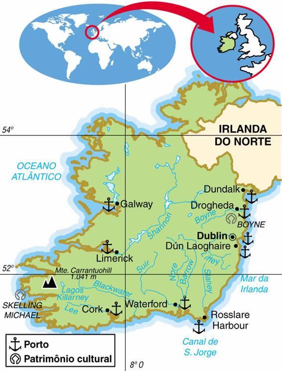 IRLANDA, ASPECTOS GEOGRÁFICOS E SOCIOECONÔMICOS DA IRLANDA