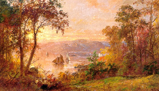 Here S A Painting By Jasper Cropsey 1823 1900 Who Was Known For His Warm Tinted Autumn Landscapes Paintings In General Tilted Toward Yellow