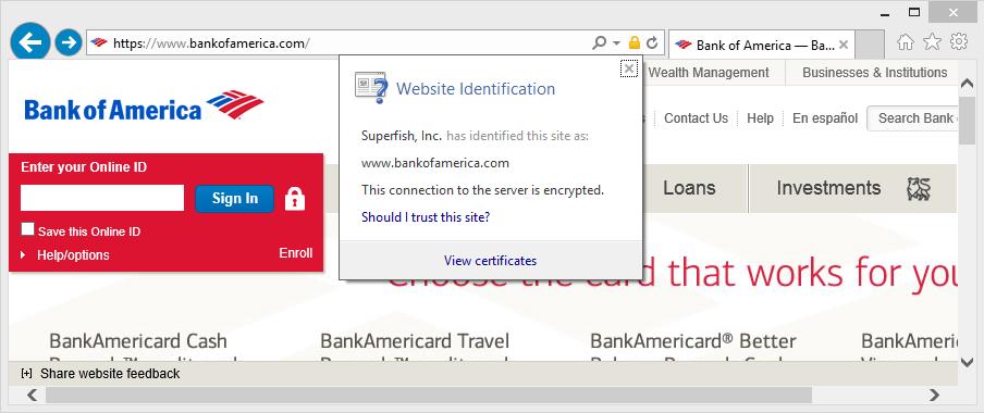 Errata Security: Exploiting the Superfish certificate