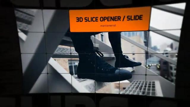مدونة مشاريع افتر افكت - قالب برومو عرض الصور بمربعات مقصوصة للافتر افكت CS5.5 فأعلى