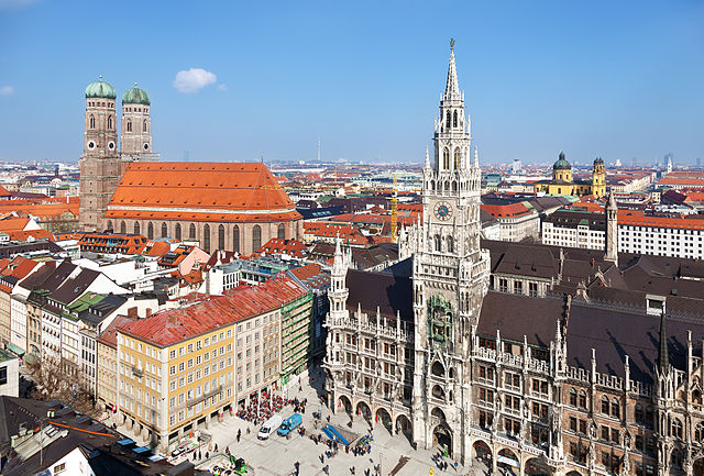 The inner city of Munich, Germany