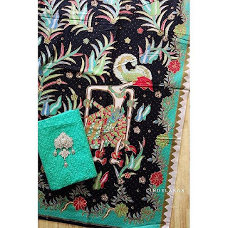 batik wayang lama toska mix embos