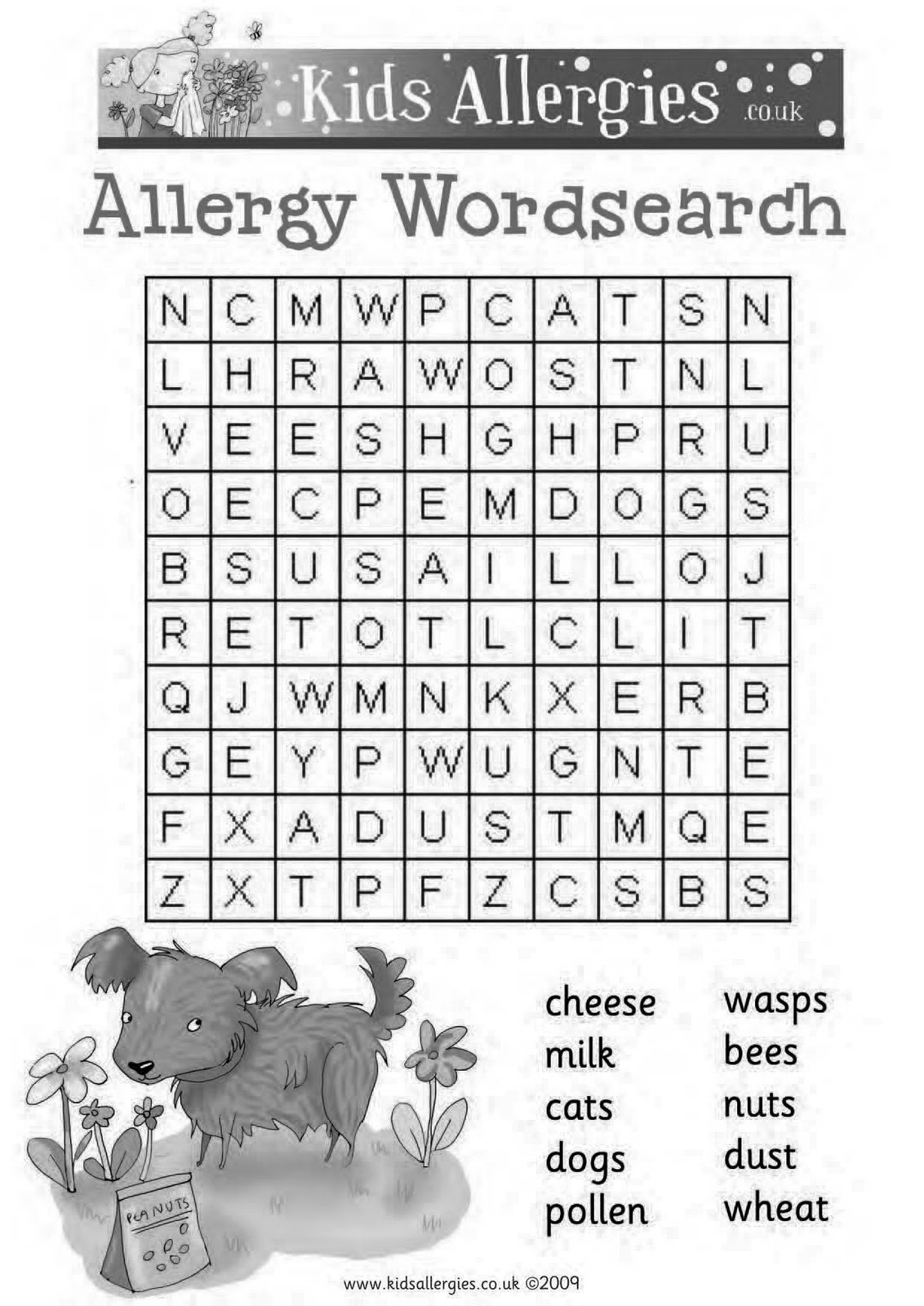Search Food Word Allergy