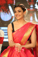 Kajal Aggarwal in Red Saree Sleeveless Black Blouse Choli at Santosham awards 2017 curtain raiser press meet 02.08.2017 032.JPG