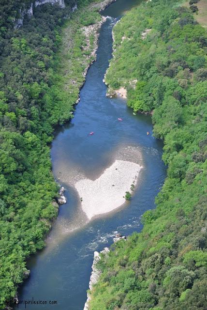 the Ardeche river