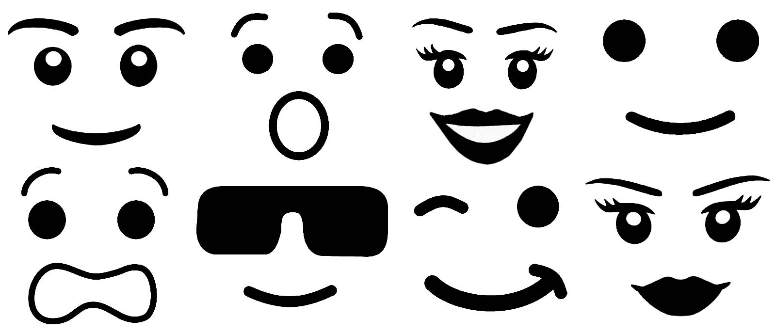 Sweet image within lego faces printable