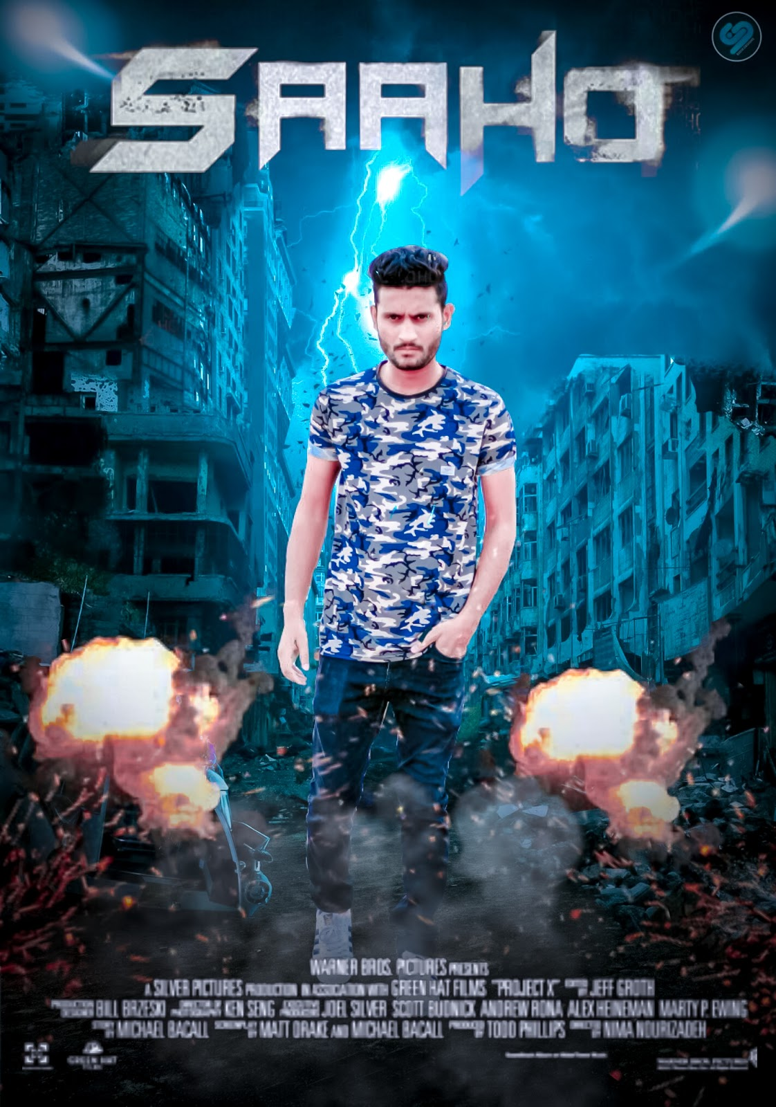 Sahoo Movie Poster Picsart Editing Tutorial Bollywood Movie