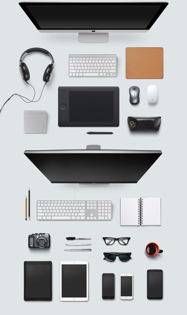 Geniales MockUps para crear escenarios de escritorios