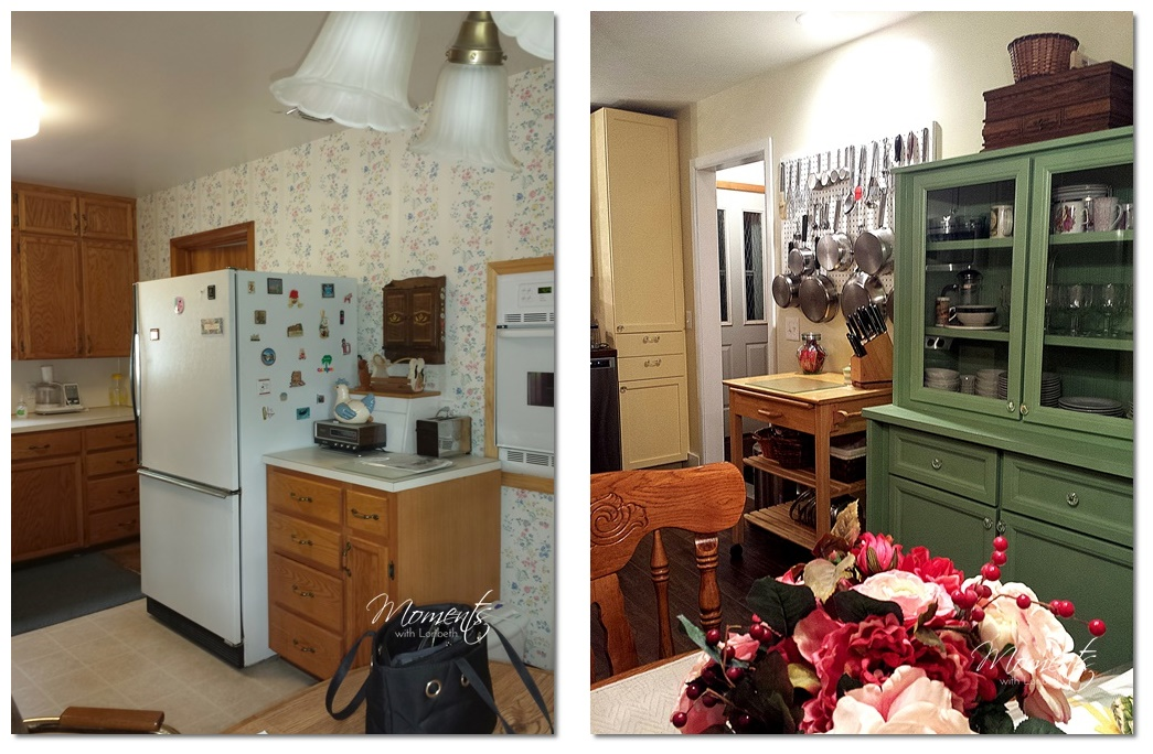 Before: The Awkwardly Located Refrigerator And Oven. After: A New Home For  The Pegboard My Dad Made For Me.