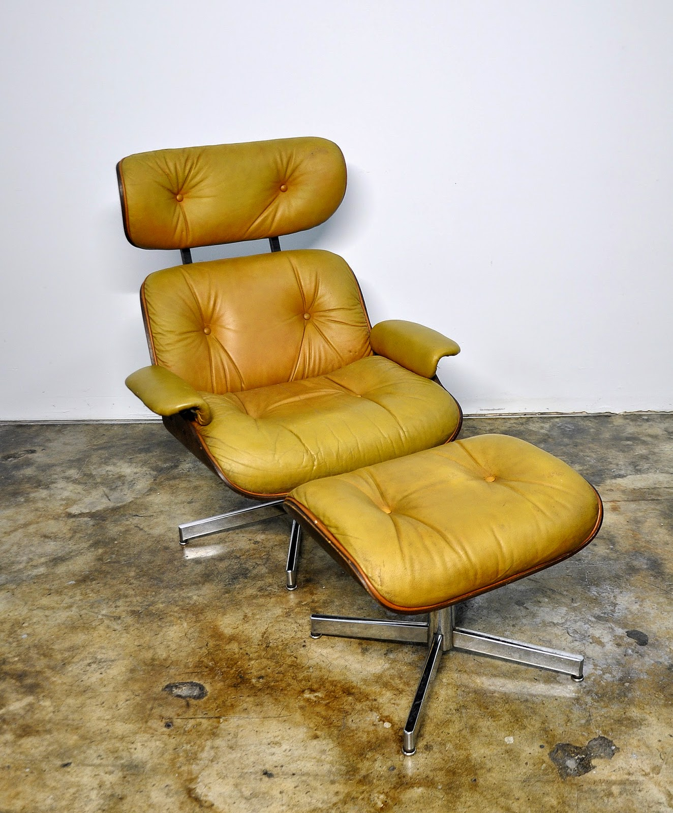 selig eames chair kids room select modern leather lounge and ottoman