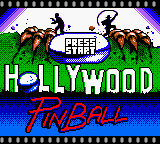 Captura de la pantalla inicial de Hollywood Pinball