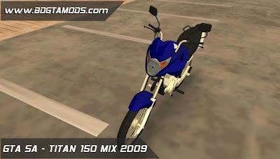 Honda TITAN 150 MIX 2009 para GTA San Andreas