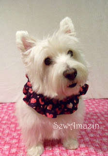 Valentine's Day Scrunchie Neck Ruffles
