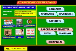 Raport SD/MI Semester 1 Kurikulum 2013 Kelas 1 sampai 6 Keluaran LPMP