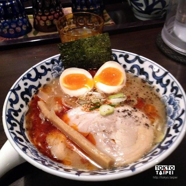 【斑鳩】豚骨魚介湯頭 大排長龍的東京拉麵店