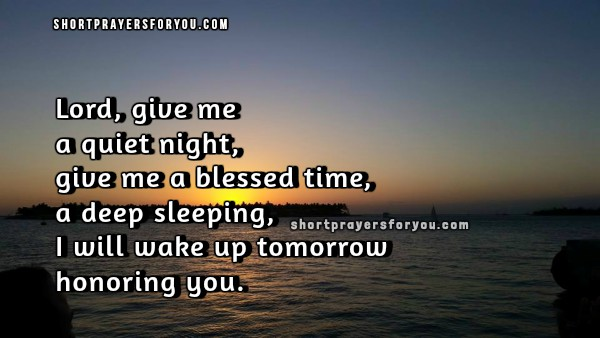 Bedtime Short Prayer with christian image to say at night, christian quotes to God, short prayer before going to bed every night by Mery Bracho