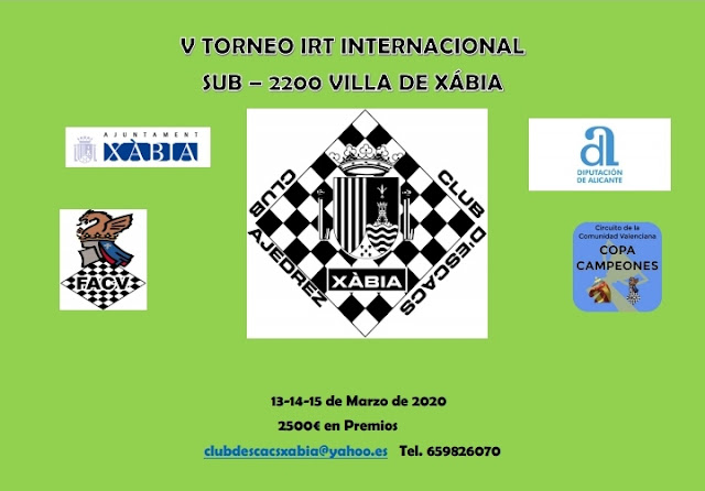13 a 15 marzo, V IRT Internacional Sub-2200 Vila de Xàbia