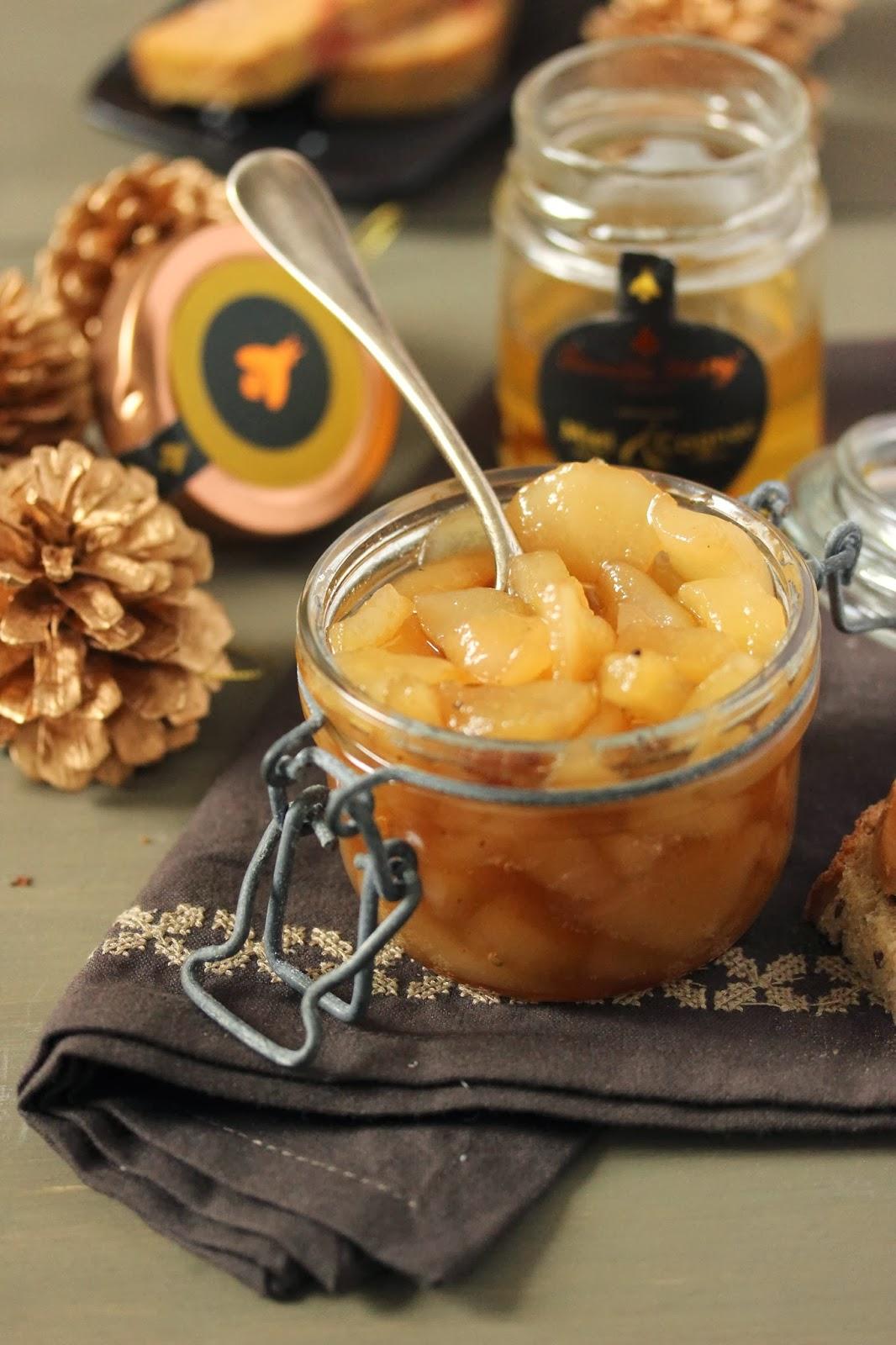 dans la cuisine de sophie no l 2013 chutney de poires au miel cognac pour votre foie gras. Black Bedroom Furniture Sets. Home Design Ideas
