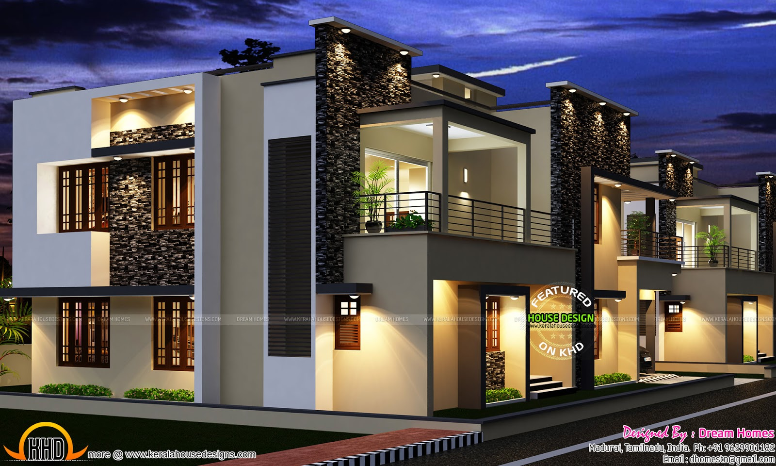 Tamilnadu villa plan kerala home design and floor plans for Contemporary villa plans