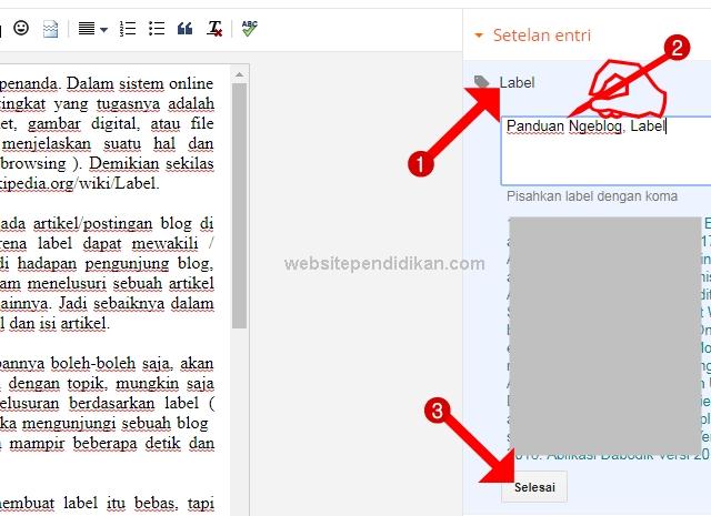 Cara Membuat Label Artikel Blog di Dasbor Blogger-Blogspot