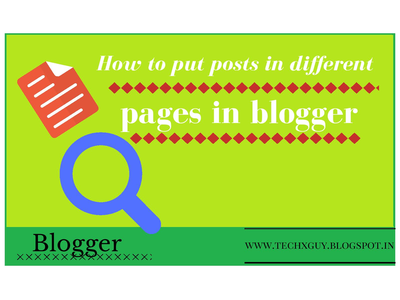 how to add posts to pages on blogger