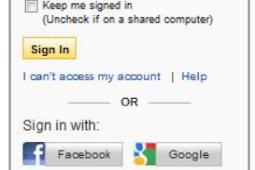 Yahoo Com Login with Facebook