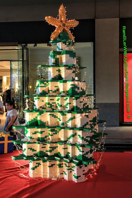 Lego Christmas tree, Greenbelt shopping mall, Makati, Manila, the Philippines