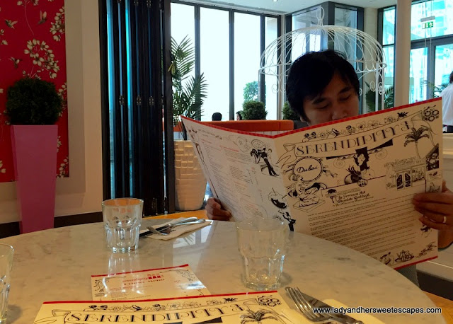 The Husband and Serendipity 3 giant menu