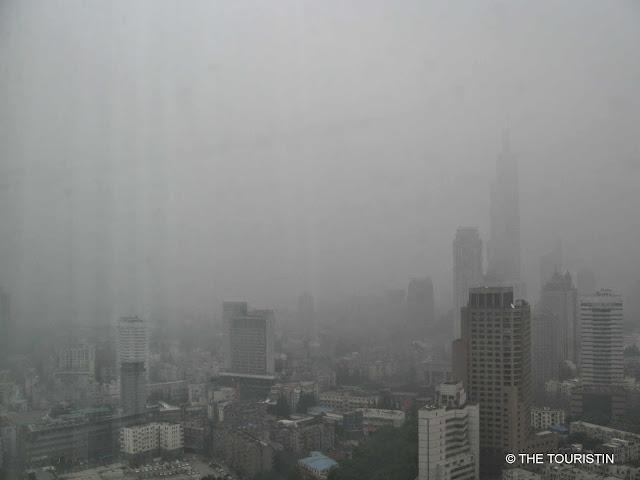 Travel China. Nanjing - Purple mountains and smog