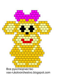 Брелок-обезьянка из бисера. Схема