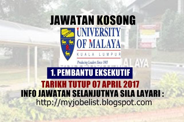 Jawatan Kosong University of Malaya Centre for Continuing Education (UMCCed) 2017
