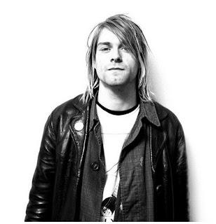 Gambar Kurt Cobain dengan Jaket Kulit