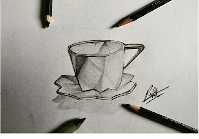 How to draw cup and saucer, darwing for kids, learn to draw, design of cup