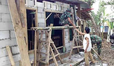 Tentara Tukang Ambil Peran Penting di Rehab RTLH