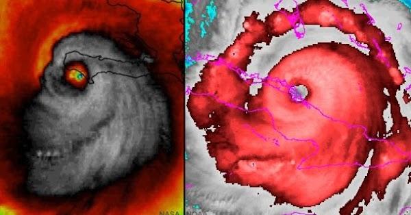 Supuesto demonio aparece en el huracán Irma y causa revuelo en Internet