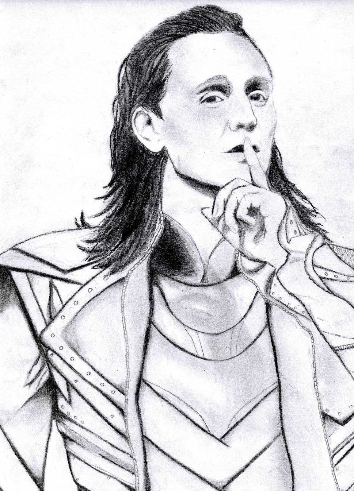 Локи картинки для срисовки карандашом