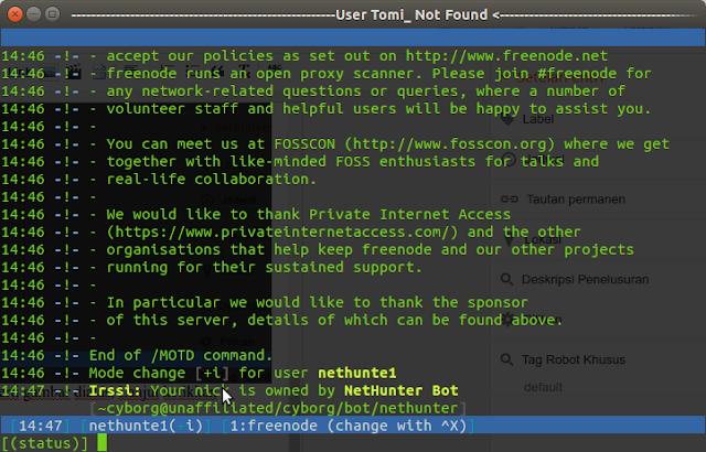 cara chattingan di terminal linux