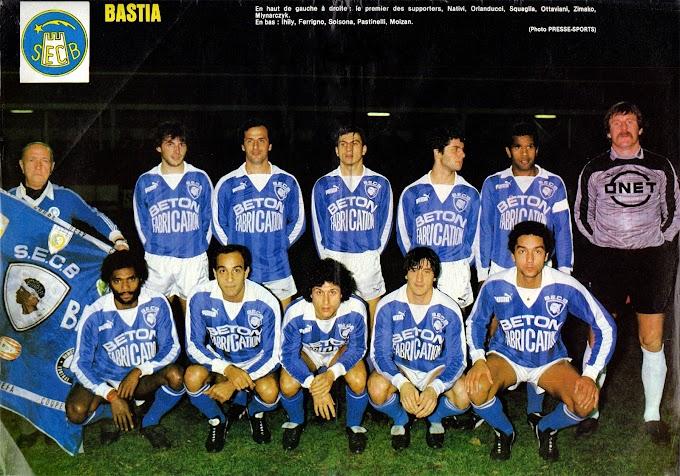 S.E.C BASTIA 1984-85. By Panini.