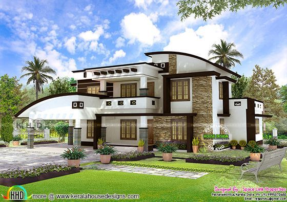 4 BHK contemporary mix house plan 2750 sq-ft