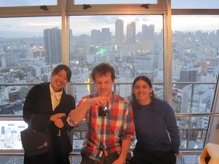 Con Miho y Jan en la torre