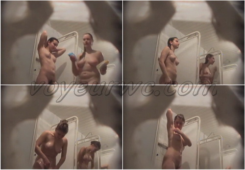 Showerroom 091-166 (Hidden Camera at a College Dorm Shower Room)