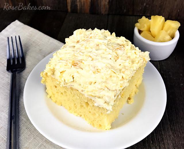 THE BEST SUGAR-FREE PINEAPPLE LUSH CAKE