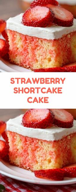 Strawberry Shortcake Cake #dessert