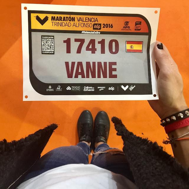 Maratón de Valencia, Dorsal, Mi Diario Runner