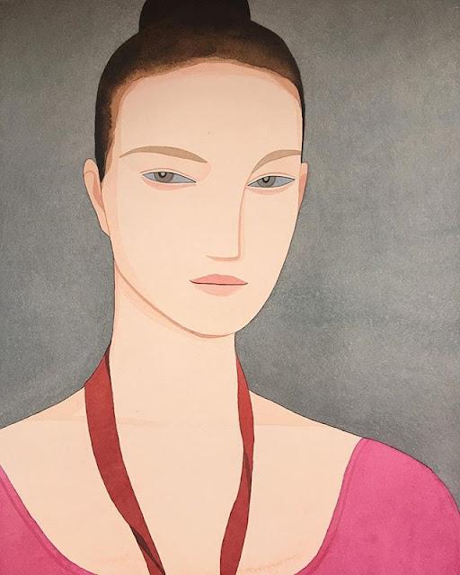Kelly Beeman arte | dibujo en acuarela de mujer deportista