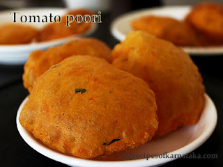 Tomato poori recipe in Kannada